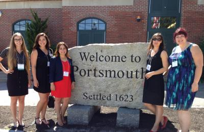 L'équipe TRACE lors de l'International Family Violence and Child Victimization Research Conference (IFVCVRC) 2016, à Porthmouth au New Hampshire (États-Unis)